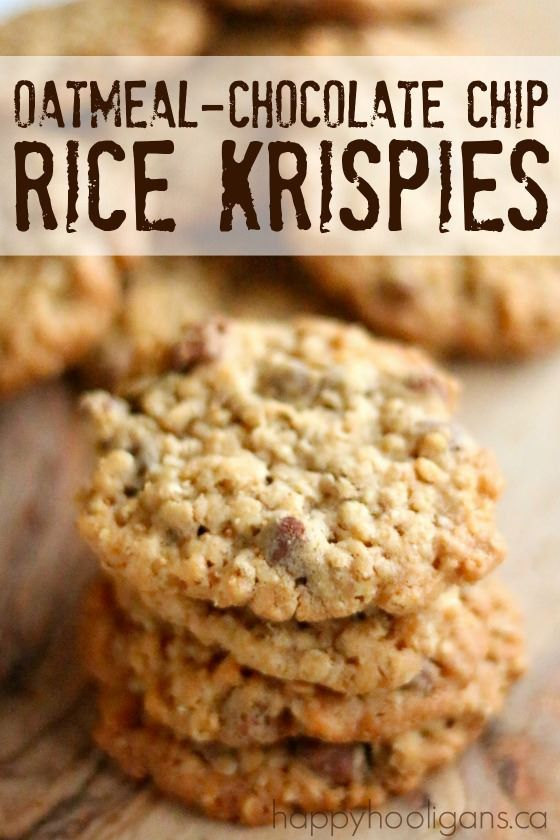 THESE ARE THE BEST! Oatmeal, Chocolate-Chip, Rice Krispy Cookies – decadent and buttery, soft on the i