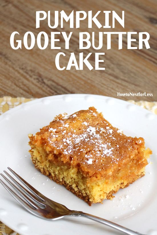 PUMPKIN GOOEY BUTTER CAKE. Basically the best dessert ever. Id take this over…