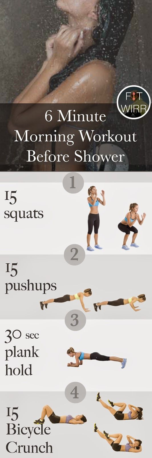 6 Minute Morning Workout Before Shower
