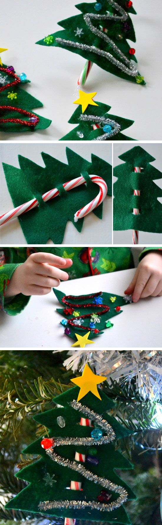 Candy Cane Christmas Trees   DIY Christmas Crafts for Kids to Make