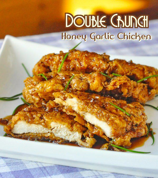 Double Crunch Honey Garlic Chicken Breasts – Super crunchy, double coated chicken