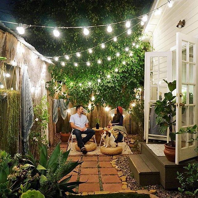 how to make a back garden without grass look green! (domino mag)