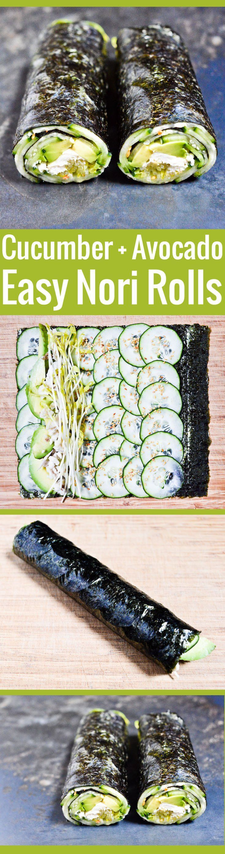 Maki-style nori roll, super easy to assemble, and a great home for all kinds of in