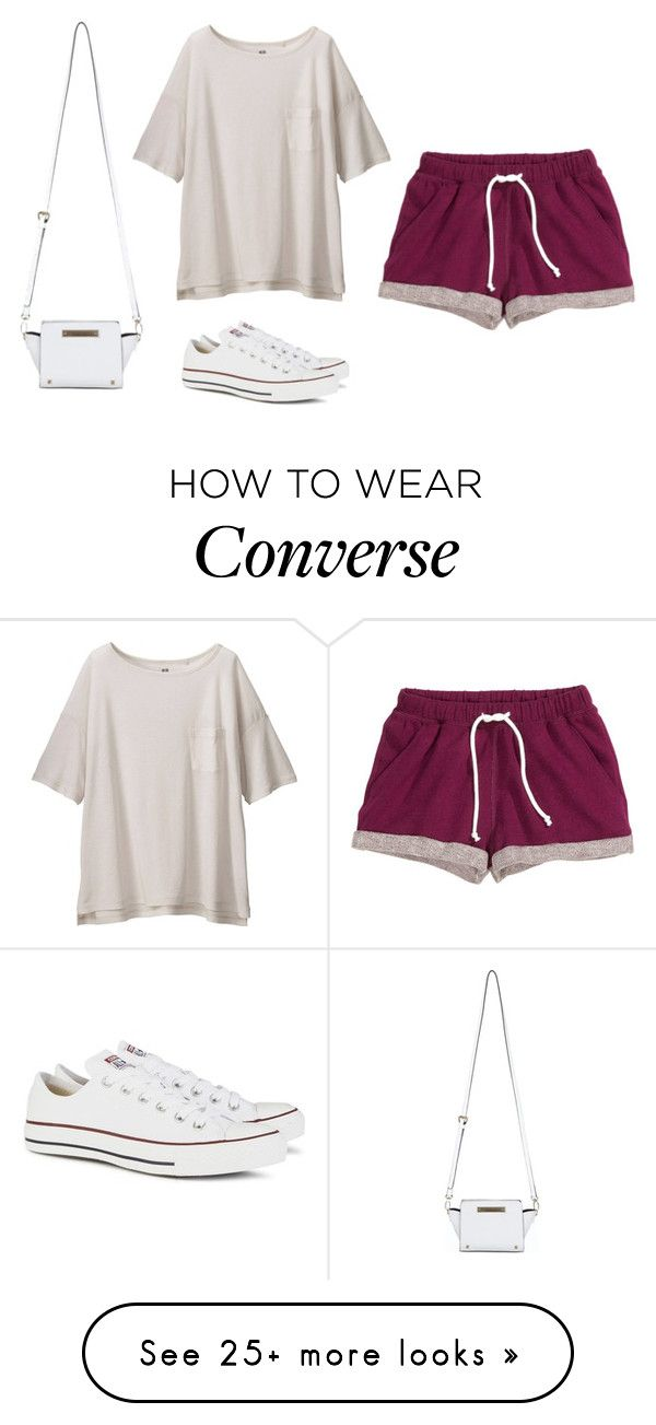 """""""M"""" by butnotperfect on Polyvore featuring H&M, Uniqlo, Converse and"""