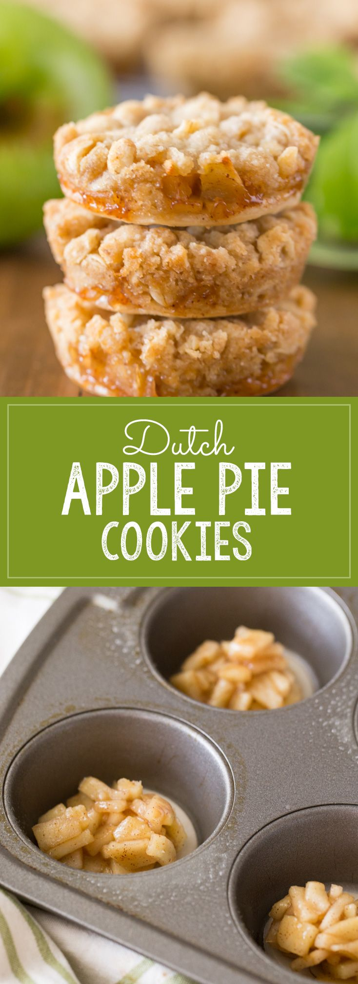 Dutch Apple Pie Cookies – The perfect little three bite dessert with a flakey pie