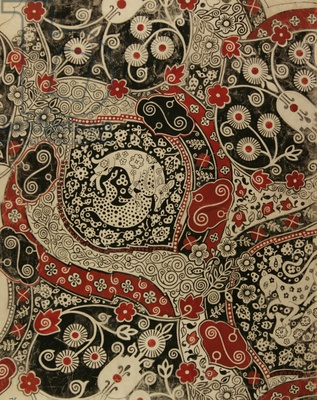 Textile Design, 1971 (gouache on paper) by Nina Ivanovna Shirokova / Gamborg Colle