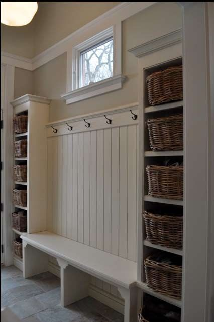 Simple built-ins to create a mudroom or storage anywhere from a kids room to a lau