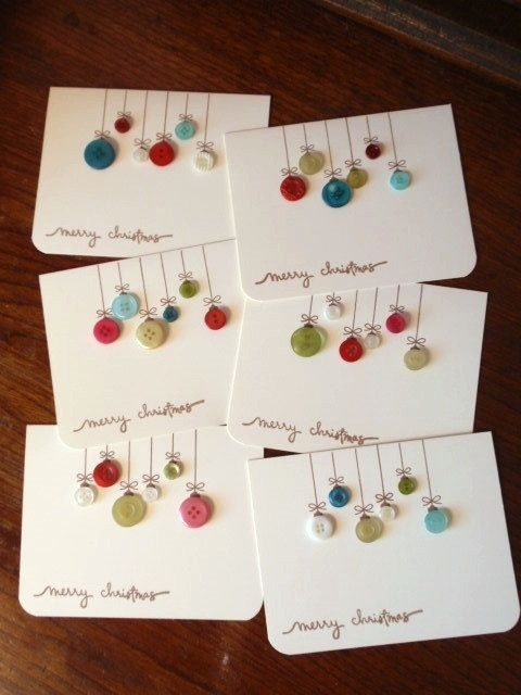 Homemade Christmas cards  Planning on making these? Let us know at mailto:editoria