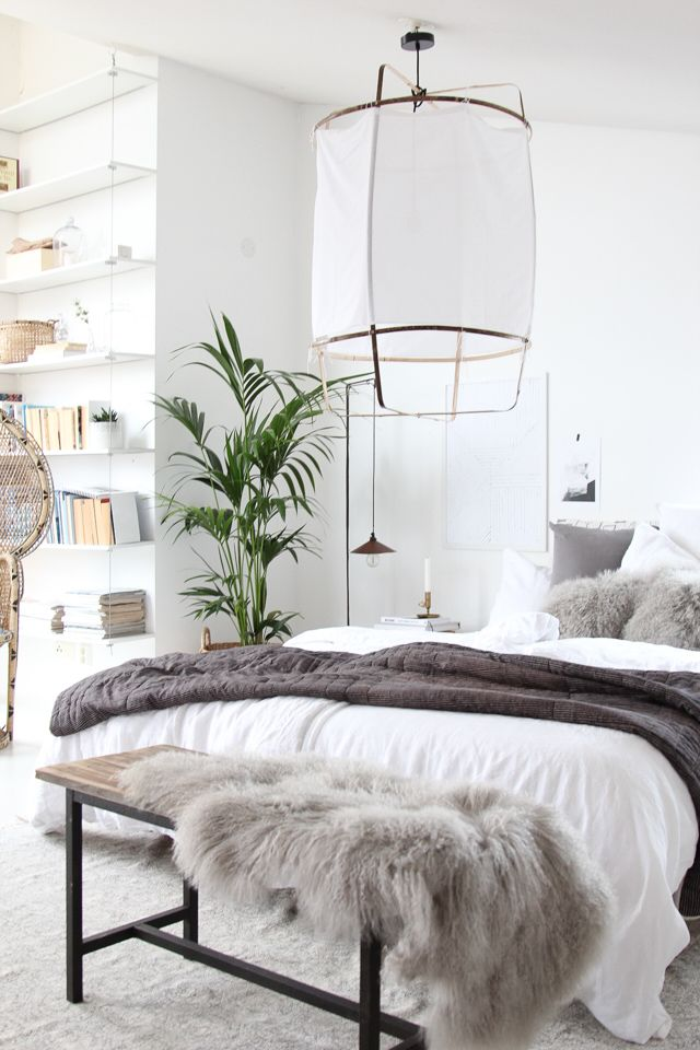 My home – bedroom tour with layers of cosy natural, textiles. My Scandinavian Home
