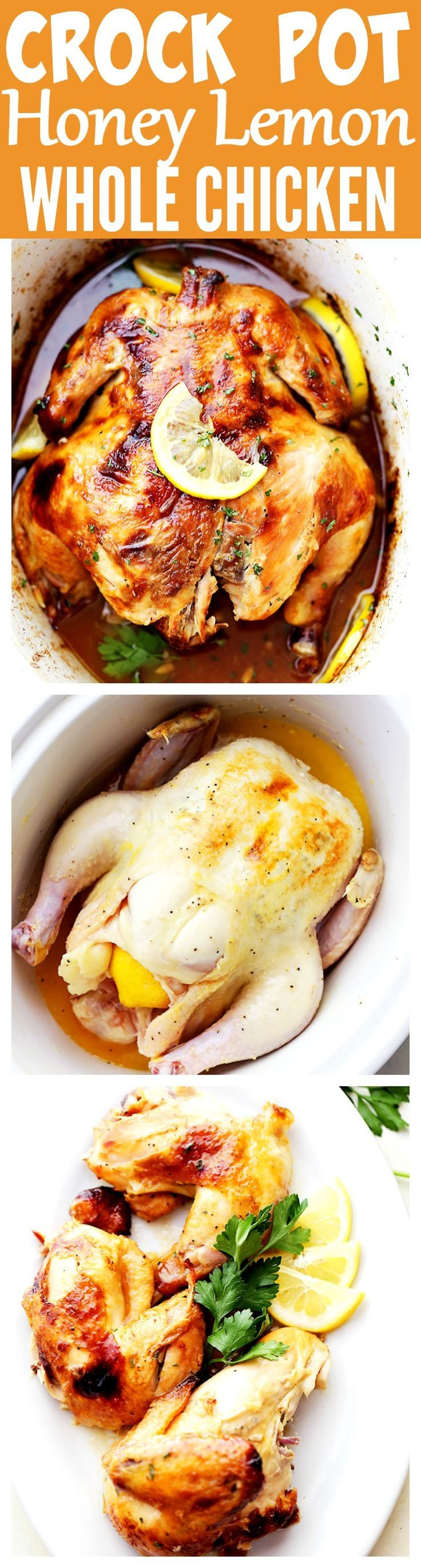 Crock Pot Honey Lemon Chicken Recipe – Rubbed with lemon-pepper butter and a…