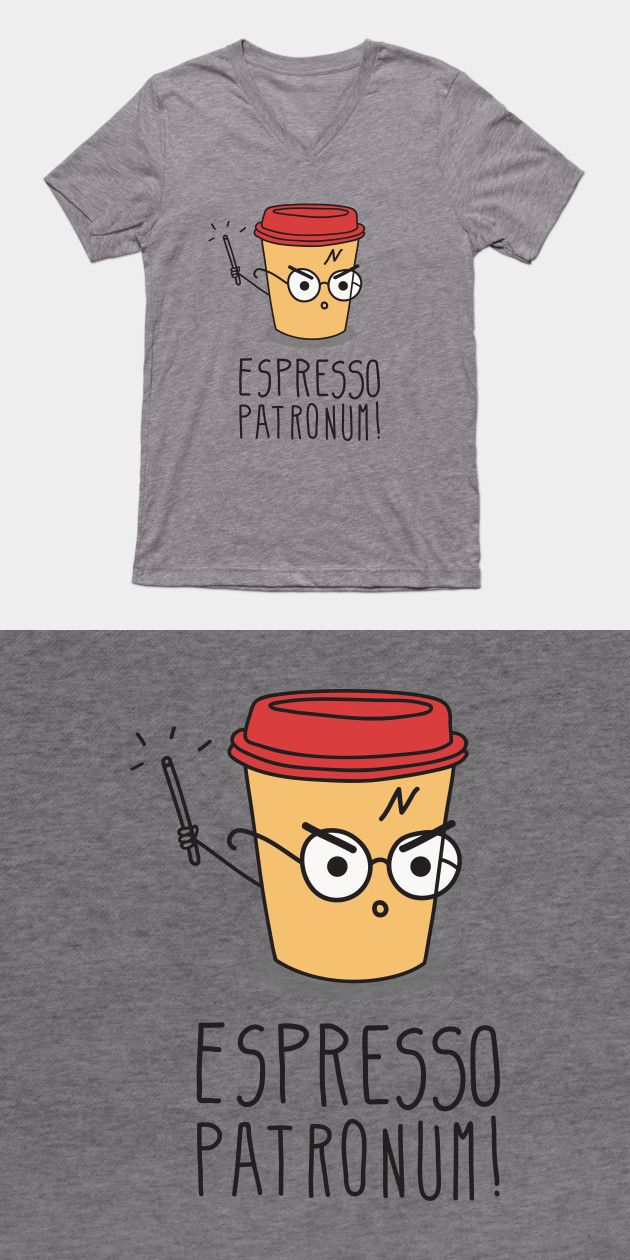Harry Potter Espresso Patronum T Shirt | If you love JK Rowling's magical story, c