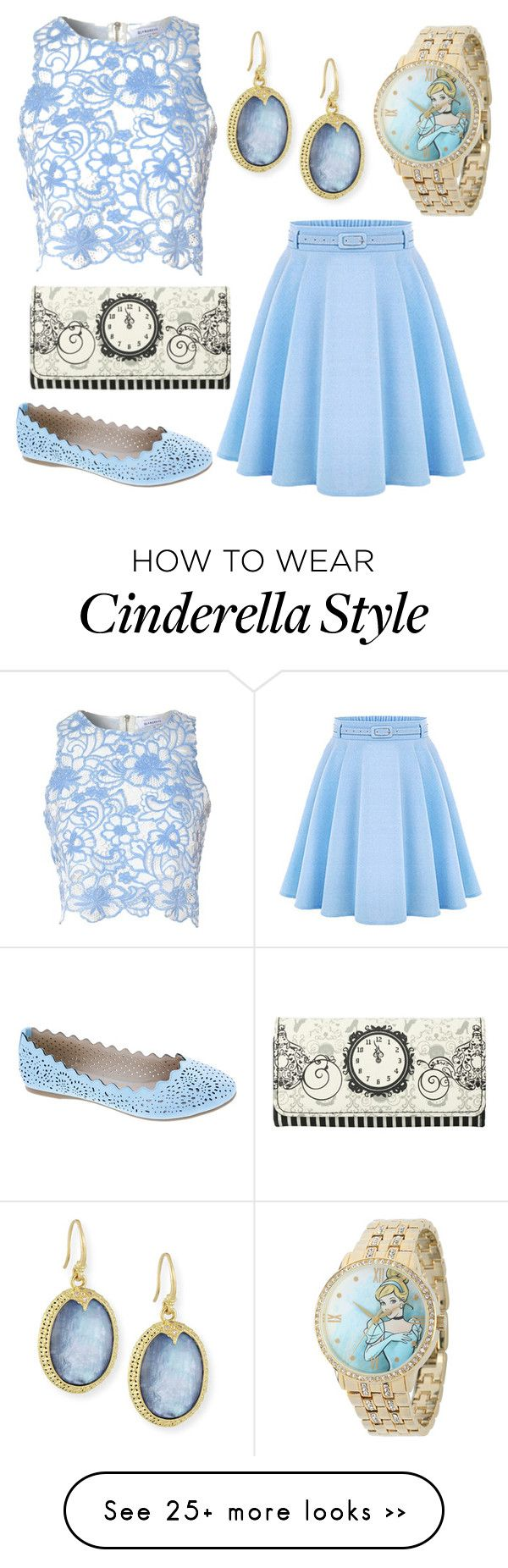 """Disneybound: Cinderella"" by swagshark on Polyvore featuring Armenta, Tr"