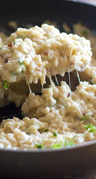 creamy cauliflower garlic rice….