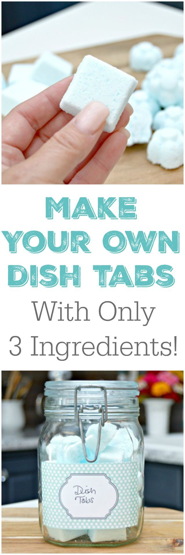 3 Ingredient Homemade Dish Tablets Recipe – Make easy and inexpensive dish tabs in