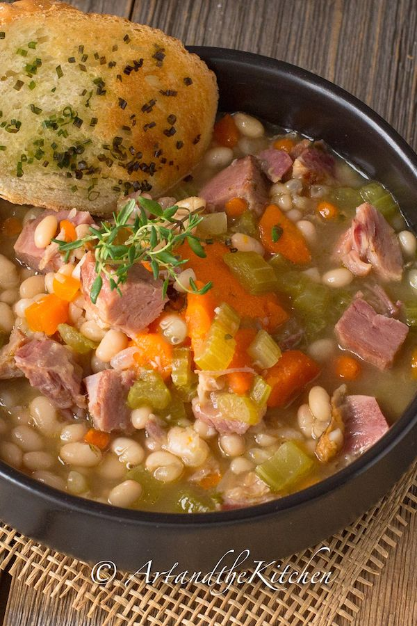 ArtandtheKitchen: Ham and Bean Soup- my all time favourite recipe for ham and bean