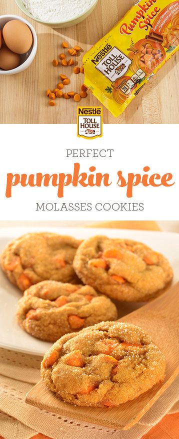 Bring the taste of fall to your table with Pumpkin Spice Molasses Cookies. Combini