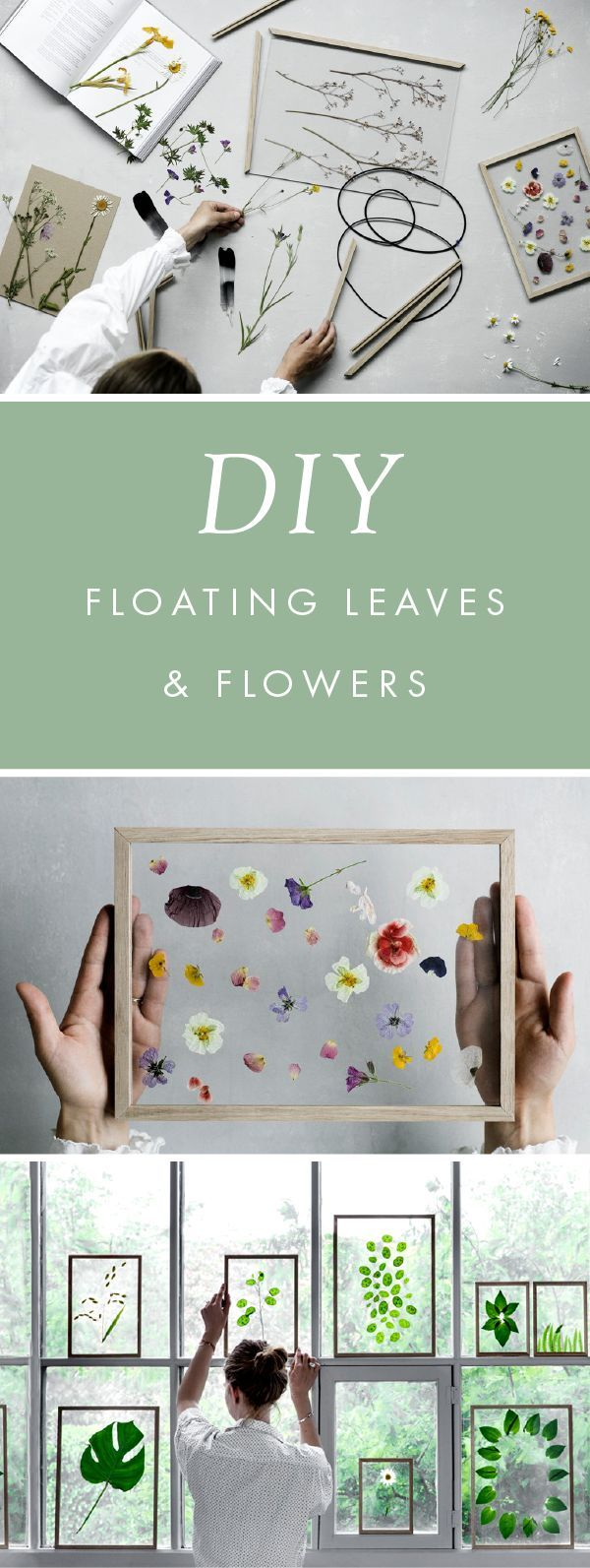 DIY Gift Idea – Minimalist Framed Floating Leaves & Flowers