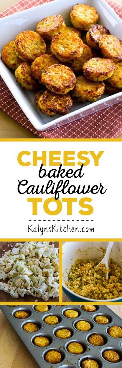 Low-Carb Cheesy Baked Cauliflower Tots are a perfect low-carb snack or side dish,