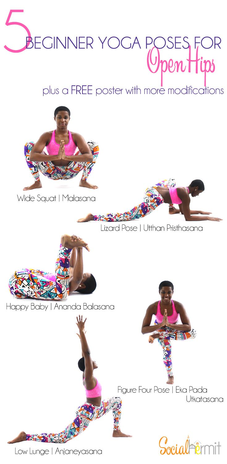 Yoga for Beginners: Check out these beginner yoga poses for more open hips. Click