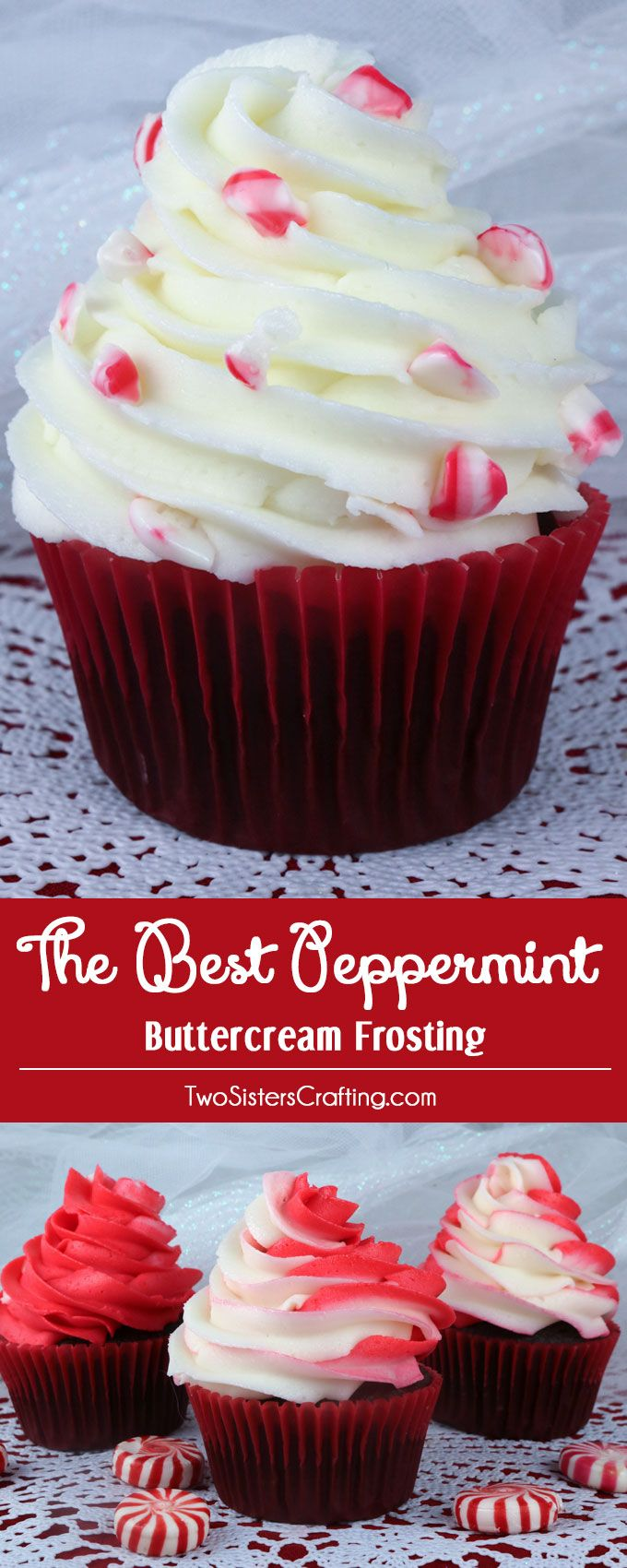 The Best Peppermint Buttercream Frosting. We think it tastes just like a butter mi