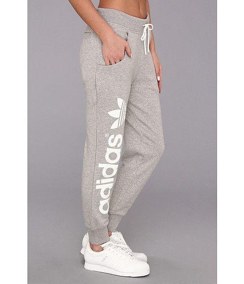 adidas Originals Originals Baggy Track Pant Medium Grey Heather/White – Zappos.com
