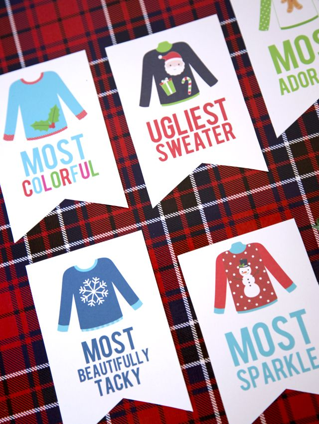 Free Printable – Ugly Sweater Christmas Party Awards