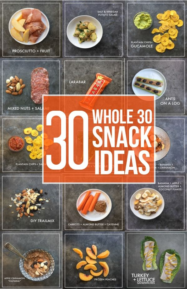 If you are looking for snack ideas while you're on the Whole30, check out 30 Whole