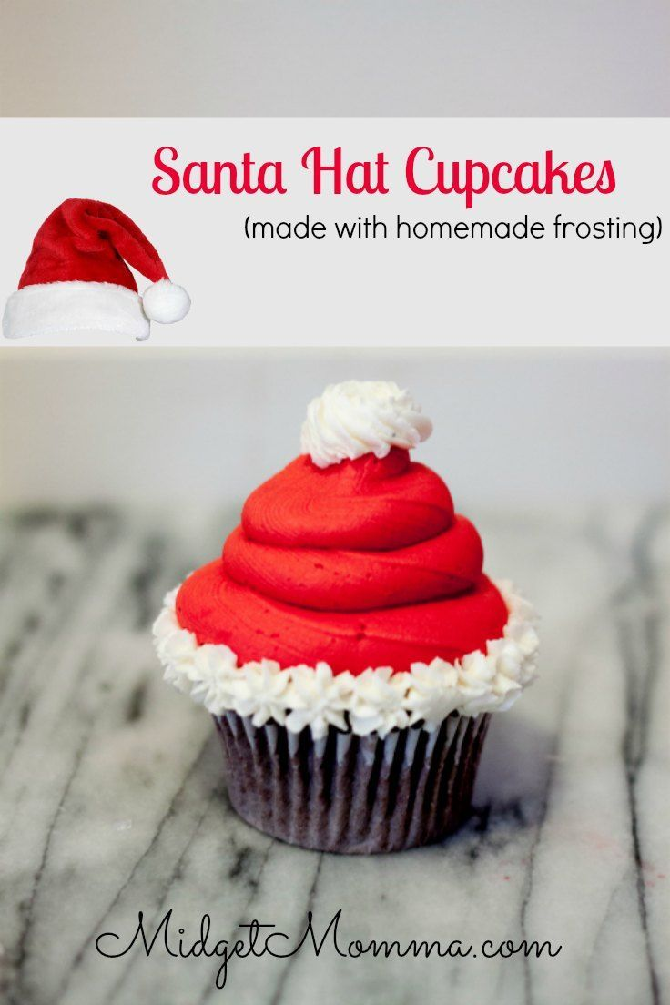 Santa Hat Cupcake. These Sanata hat cupcakses are easy to make, make with your fav
