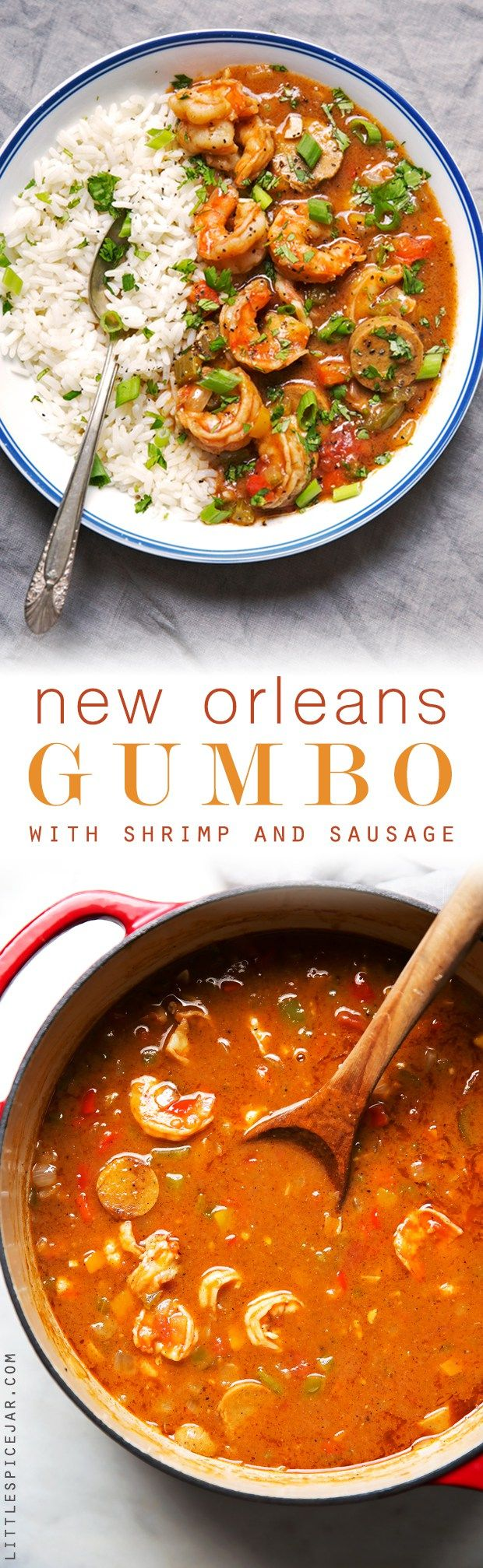 New Orleans Gumbo with Shrimp and Sausage – my take on Gumbo! This recipe makes ev