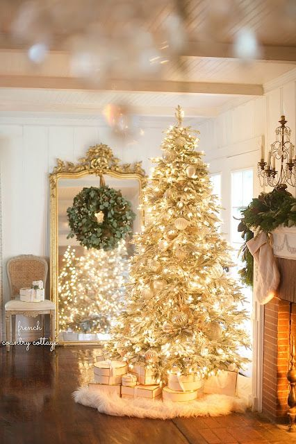 Its beginning to look a lot like Christmas- Elegant French Country Tree – Fro