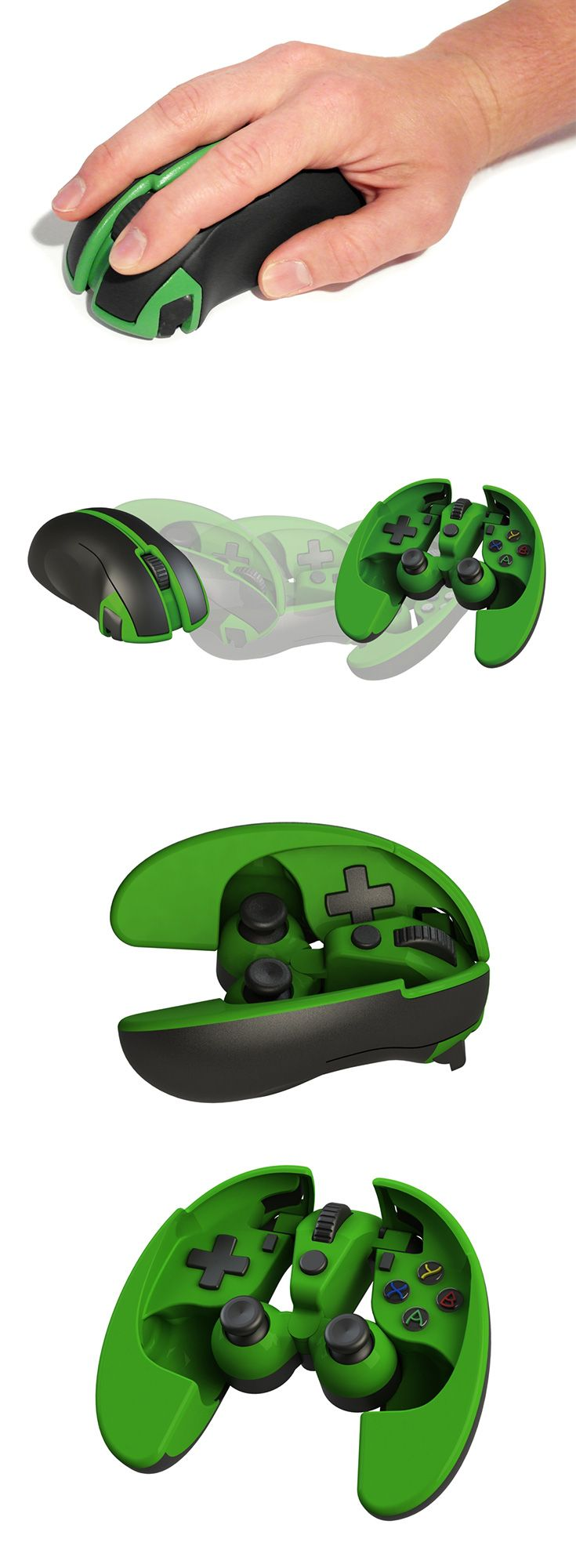 The Scarab Mouse/Gamepad is a mouse that transforms into a fully functio