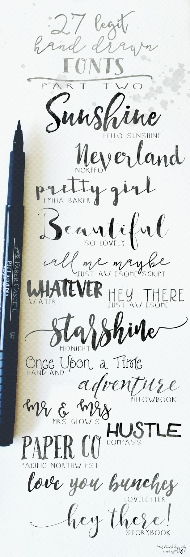 We Lived Happily Ever After: 27 Legit Hand Drawn Fonts | Part 2