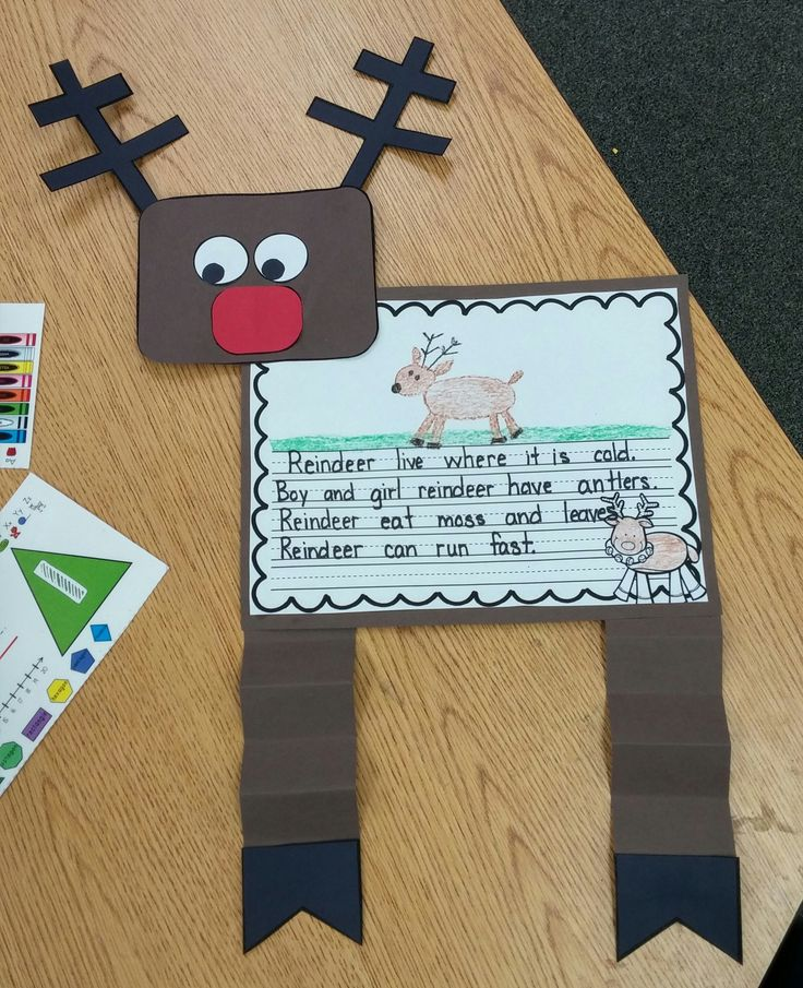 Cute Reindeer Unit: Student Readers, KWL chart, Can – Have – Are, If I had a Reind