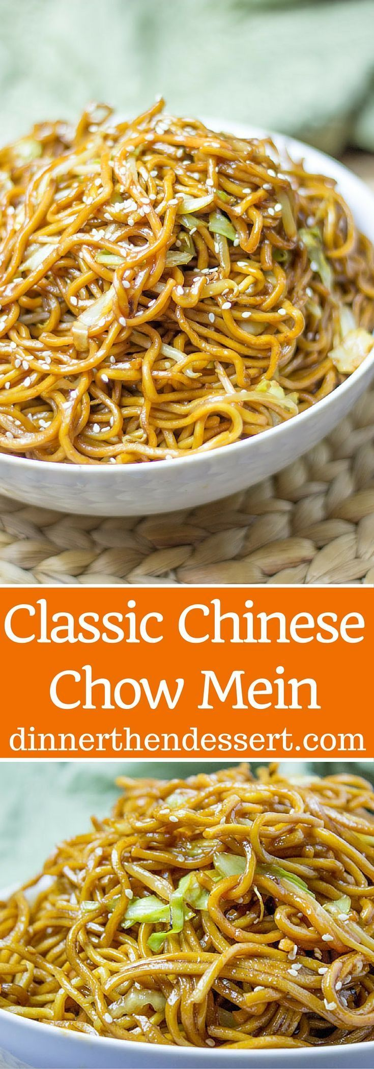 Classic Chinese Chow Mein with authentic ingredients and easy ingredient swaps to