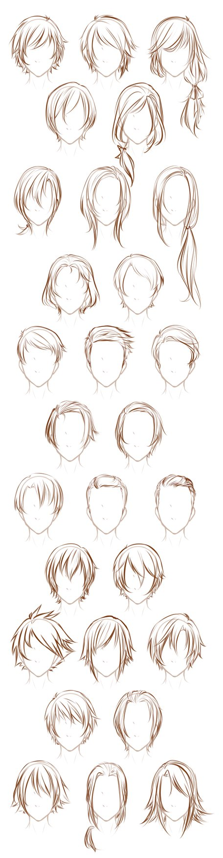 After sketching that sheet of Male Poses I decided to sketch out some of my male o