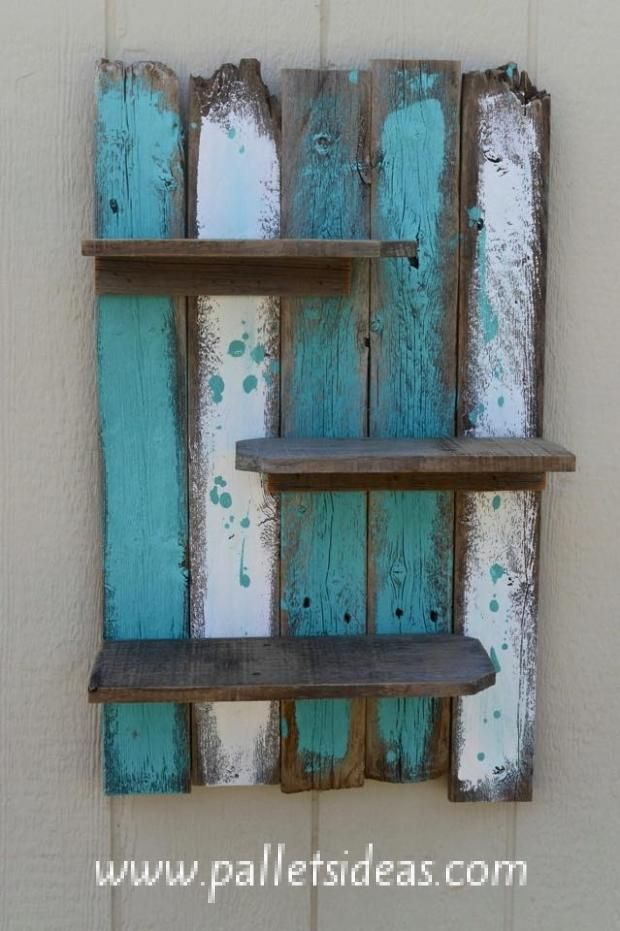 Pallet Wall Shelves (Dunway Enterprises) For more info (add http:// to the followi