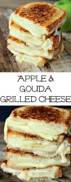 Apple & Gouda Grilled Cheese is perfect for fall and those granny smith apples