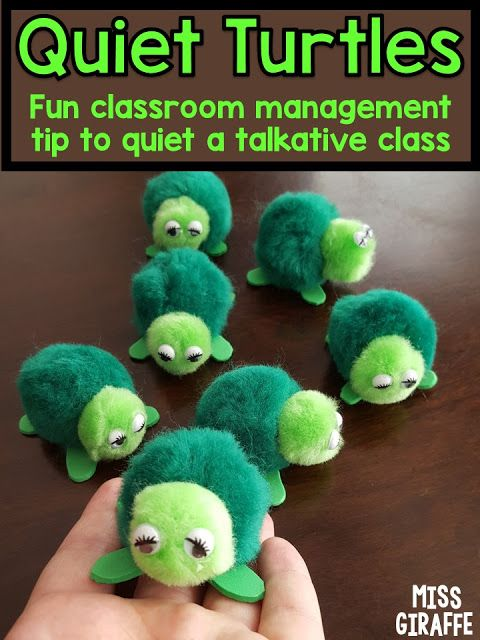 Quiet turtles classroom management strategy that kids LOVE! Lots of wonderful beha