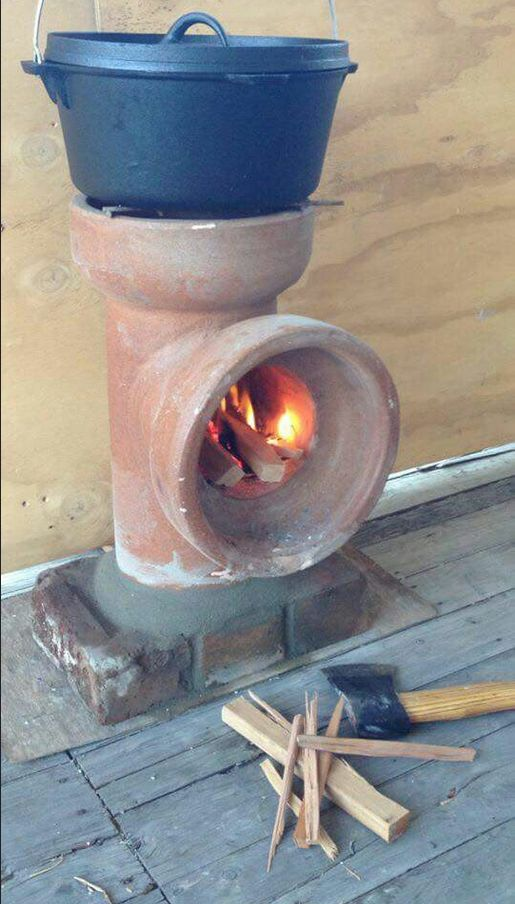 Rocket stove – how simple is this?  (picture only)
