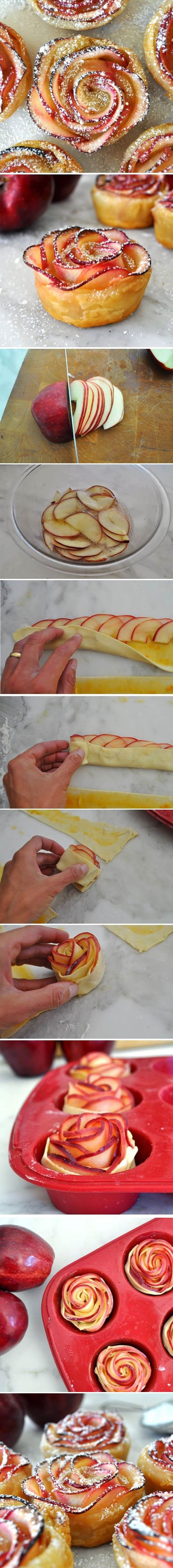 How to Make Apple Roses Beautiful and Delicious By Manuela | FoodJino