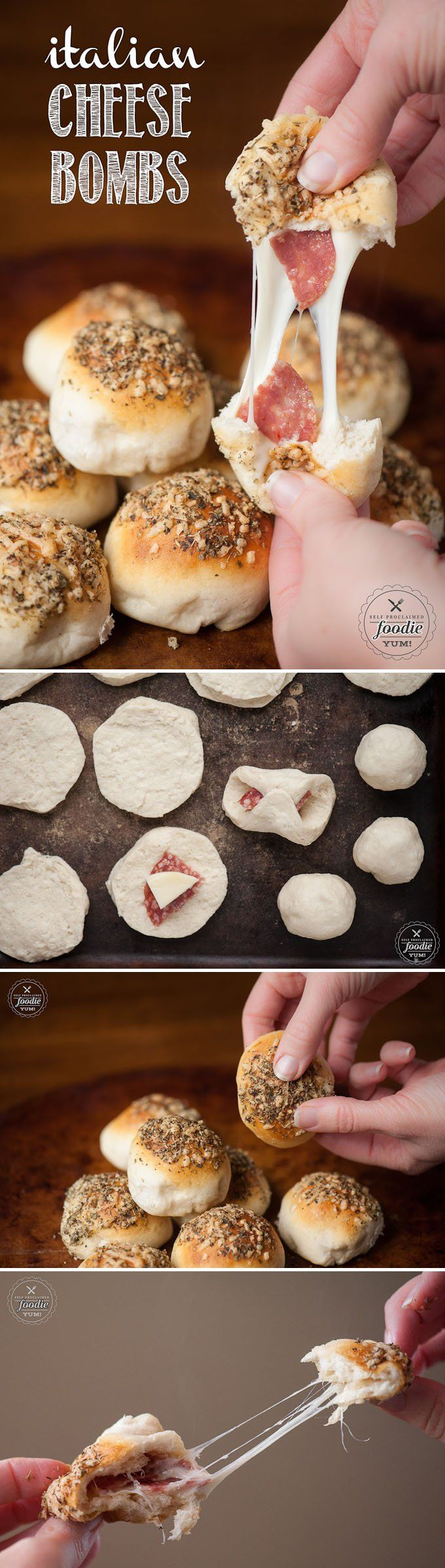 These Italian Cheese Bombs take only minutes to prepare using premade biscuit doug