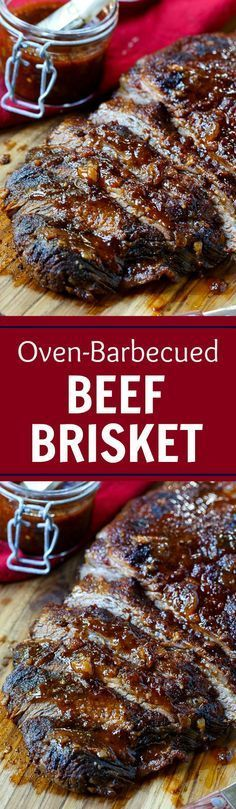 Oven-Barbecued Beef Brisket- so smoky and flavorful, no one will ever believe it w