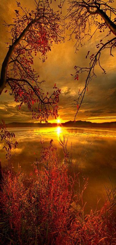 Sunset on Mauthe Lake | Wisconsin Horizons, Milwaukee, Wisconsin, USA | by Phil Ko