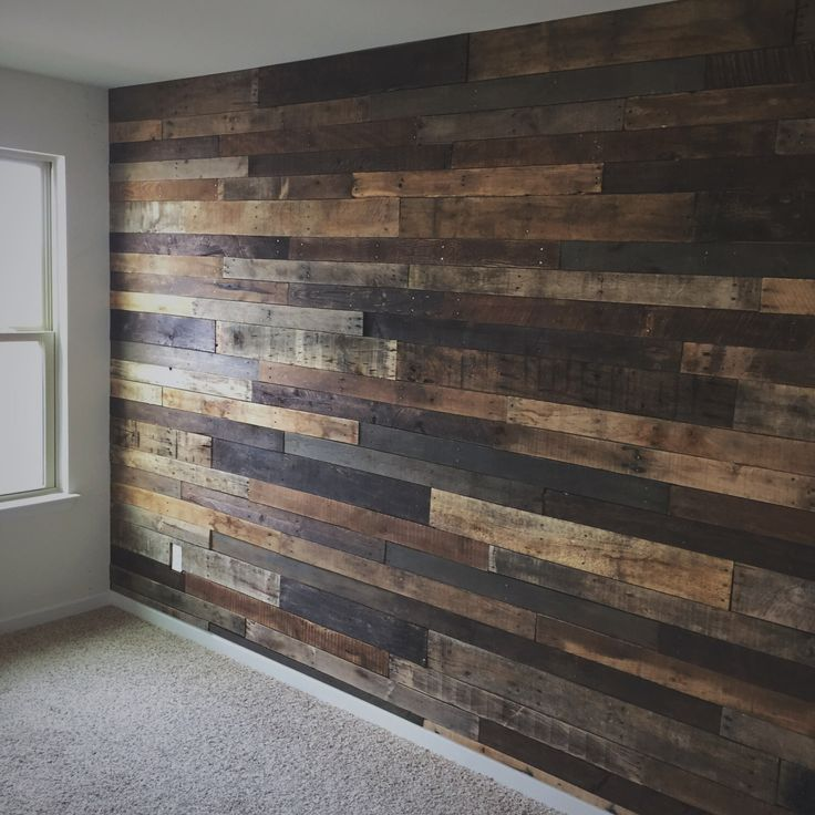 Reclaimed Pallet Wood Wall by crtcreative on Etsy www.etsy.com/…