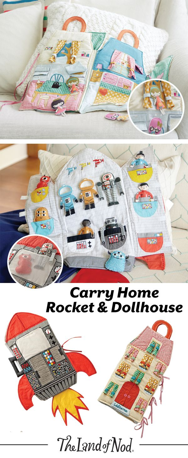 These on-the-go plush dollhouses feature an abundance of endless playtime. Soft, f