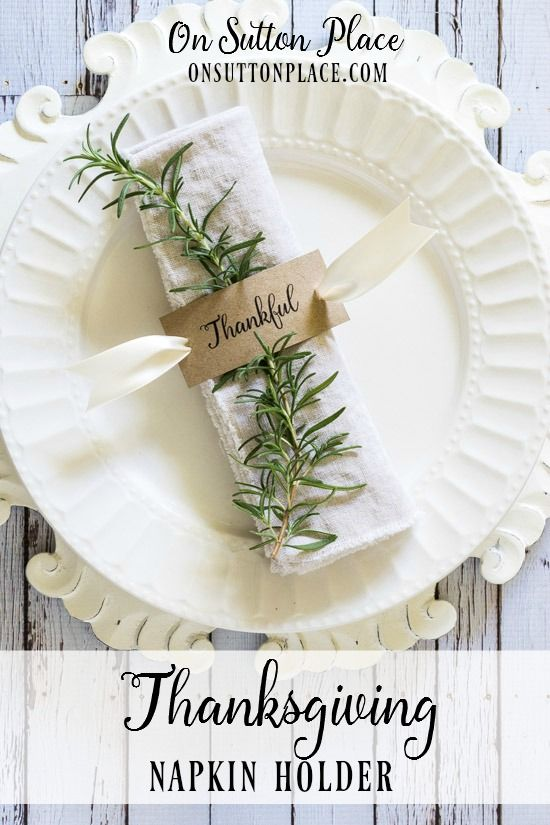 Thanksgiving Napkin Rings | Free Printable | Includes a free printable to make the
