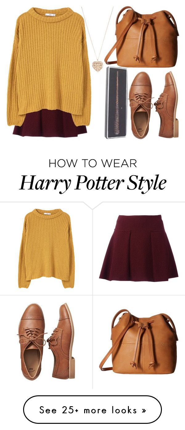 """""""Quidditch"""" by depyhoran on Polyvore featuring MANGO, Gap, ECCO and Acce"""