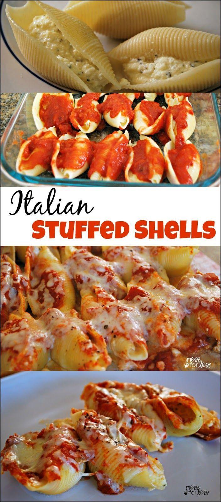 Stuffed Shells Recipe – A simple take on a classic Italian dish. These are a delic