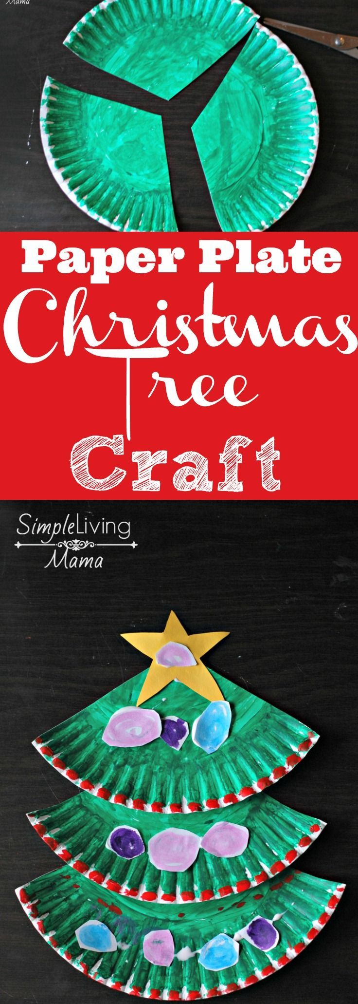 A DIY Paper Plate Christmas Tree craft made with Kwik Stix! Your kids are going to
