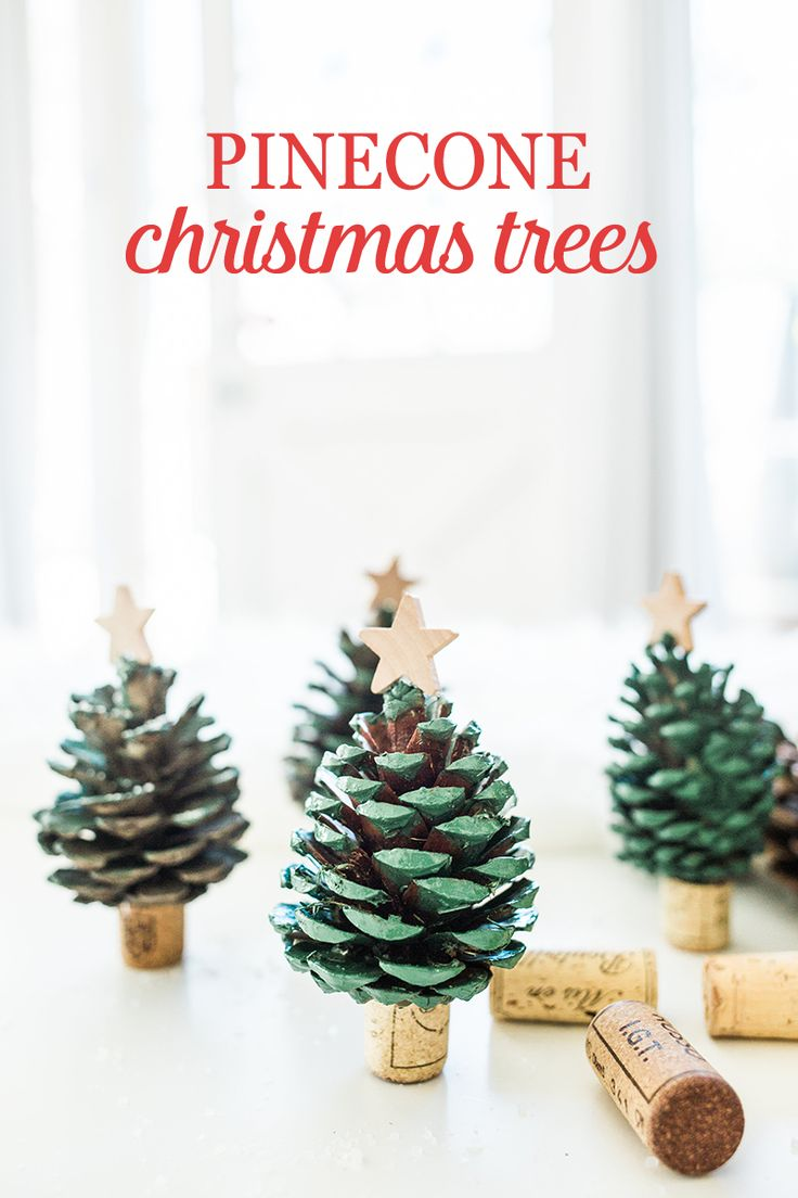 Spread some holiday cheer and decorate your home with these DIY Pinecone Christmas